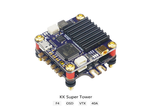 LDARC KK Super Fly Tower 30.5*30.5 F4+OSD+VTX 40A BLHELIS 4 in 1 ESC 600MW Adjustable Transmmitter for FPV Racing Drone Quadcopter
