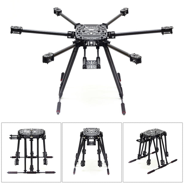 QWinOut ZD850 Full Carbon Fiber ZD 850 Frame Kit with Unflodable Landing Gear Foldable Arm for FPV DIY Aircraft Hexacopter