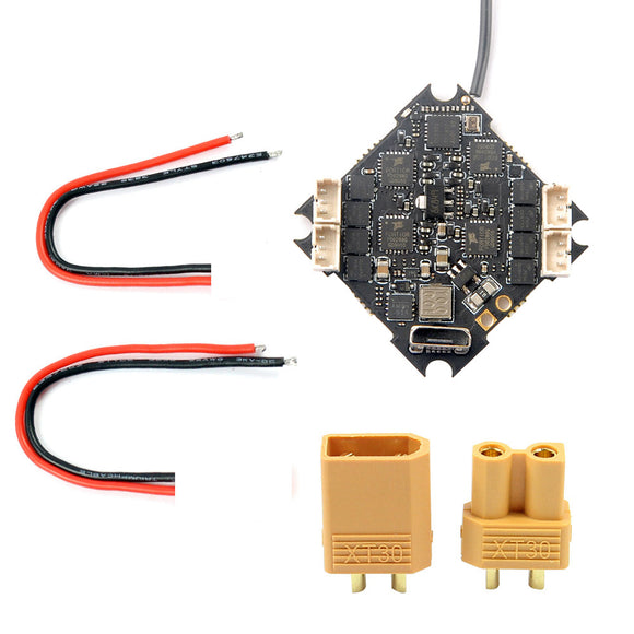 Happymodel Crazybee F4 PRO V3.0 Flight Controller 1-2S with XT30 Plug 20AWG Silicone Wire for 2S Brushless Tiny Whoop For Mobula7 Mobula 7 HD Upgrade Eachine TRASHCAN TC75