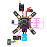 HAKRC F4 Flight Control F4 PDB STM32 Integrated OSD 5V BEC Flight Controller for FPV Racing Drone Quadcopter DIY Aircraft