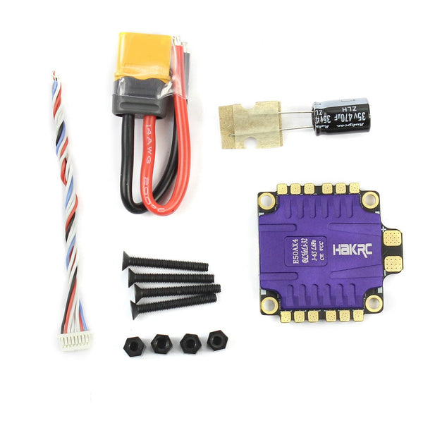 HAKRC 4x50A 4In1 50A 3-6S BLHeli_32 5V 3A BEC Dshot1200 Mini Size ESC for DIY Quadcopter FPV Racing Drone