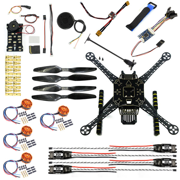 QWinOut DIY FPV S600 4-axis Aerial Drone Quadcopter Welded Kit Unassembled w/ Pix2.4.8 Flight Control GPS 7M 40A ESC 700kv Motor