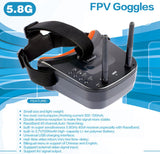 QWINOUT Q75 FPV Goggles Version DIY Mobula 7 V3 75mm Combo Full Set with Transmitter Crazybee F4 PRO FC V3 Frame SE0802 Motor Turbo Eos2 Camera VTX Arch Apron for Mobula7 75mm Bwhoop75 Brushless Whoop Eachine TRASHCAN TC75