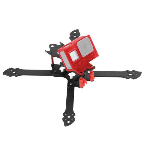 QWinOut OWL260 260mm FPV Racing Drone Frame Kit Carbon Fiber Rack with 3D Print TPU Camera Mount for gopro hero 8 Action Camera