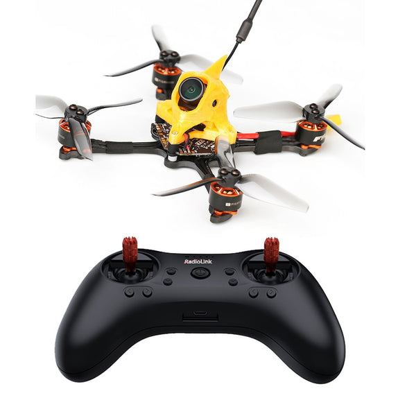 T-MOTOR Toothpick F15 110mm FPV Racing Drone RTF With T8S Remote Controller 4500KV Motor 4 in 1 BLHeliS 12A 4s ESC F4 MATEKF411 Flight Control