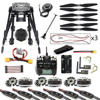QWinOut DIY 6-Axle ZD850 Frame Kit APM 2.8 Flight Controller M8N GPS 3DR MHz Telemetry Flysky TH9X TX Motor ESC RC Hexacopter