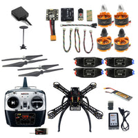 QWinOut DIY Quadcopter 2.4G 8CH X4M360L 360mm RC FPV Drone With Radiolink TX Receiver Mini PIX M8N GPS Altitude Hold Module Simonk ESC