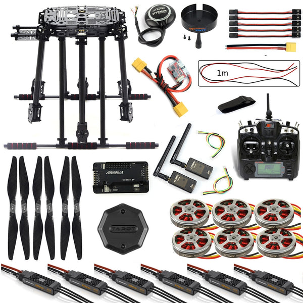 QWinOut DIY ZD850 Frame Kit APM2.8 Flight Control M8N GPS Flysky TH9X Remote Control 3DR Telemetry Motor ESC for RC Hexacopter