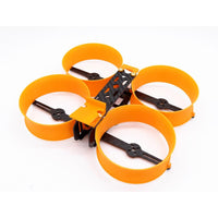 Donut 3 Inch H Type brushless Racing Drone Frame RC FPV Indoor Mini Racer 140mm Frame Kit with PLA Motor Protector Prop Guard