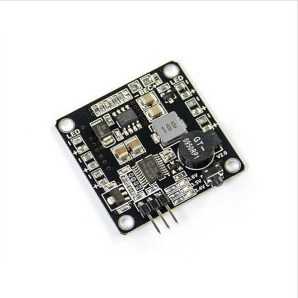 QWinOut PDB Power Distribution Board  BEC-5V/12V 3A &Signal Loss Alarm Quadcopter Finder with 2-6S Lipo Low Voltage Buzzer