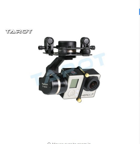Tarot TL3T01 Update from T4-3D 3D Metal 3-axle Brushless Gimbal for GOPRO GOPRO4/GOpro3+/Gopro3 FPV Photography