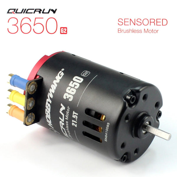 Hobbywing QUICRUN 3650 Sensored 6.5T / 8.5T /10.5T /13.5T / 17.5T / 21.5T 2-3S Racing Brushless Motor for 1/10 Rc Car