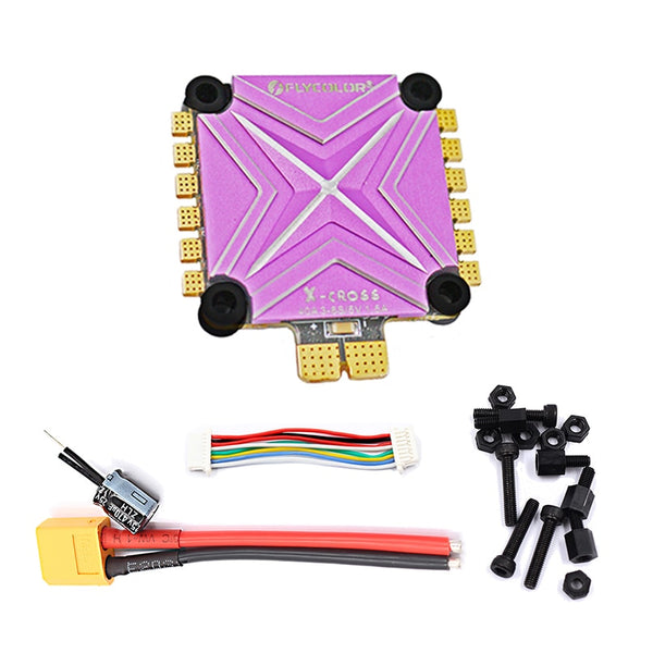 Clearance Flycolor 4in1 BLHeli32 ESC X-Cross BL-32 3-6S 40A Electronic Speed Controller BEC 5V 1.5A for RC Racer FPV Multi-axle Aircraft