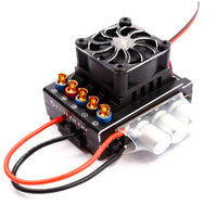 Flycolor Lightning Series Car Vehicle ESC 60A 80A 120A Brushless Electronic Speed Controller 2-3S for RC Speeding Car Module