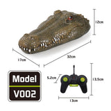 Flytec V002 RC Simulation Crocodile Head Electric Remote Control Boat Animal Decoration Fun Novelty Spoof Toy Scare Gift for Kid