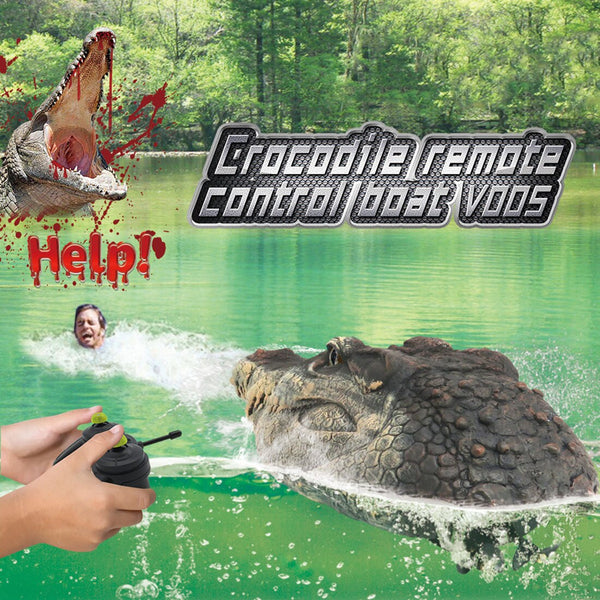Flytec V005 RC Boat 2.4G Simulation Crocodile Head Animal Decoration Pool Fun Spoof Water Racing Speedboat Remote Control Toys