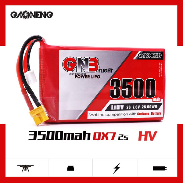 Gaoneng GNB 3500mAh 2S1P 7.6V 2C/4C HV Lipo Battery For frysky Taranis QX7 Transmitter TX Remote control RC Parts
