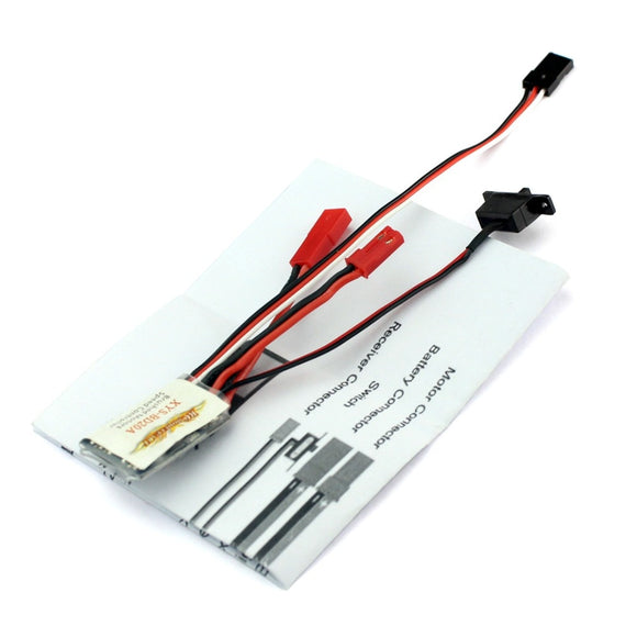 QWinOut 20A Brushed ESC Car Motor Speed Controller Bothway No brake function For 1/16 1/18 Car Boat
