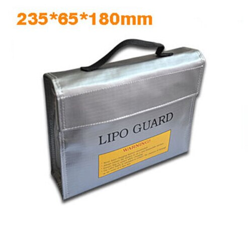 QWinOut 215x155x115mm Fireproof RC LiPo Battery Portable Explosion-Proof Safety Bag Safe Guard Charge Sack With Handle
