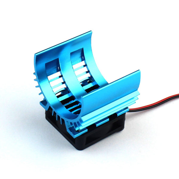 JMT 540 550 3650 Motor Heat Sink Heatsink With Fan Cooling Head Vent Top JST For 1/10 1/8 RC Car HSP Wltoys Toy Motors F20656