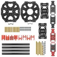 JMT J630 630mm Carbon Fiber 4-axis Folding Rack Frame Kit High Landing Skid for DIY Multicopter RC Racing Drone