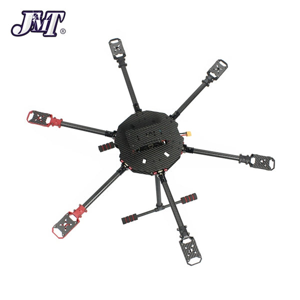 JMT Saker675 675mm / Saker610 610mm 6-axis Carbon Fiber Folding Rack DIY Drone Hexacopter Frame Kit wi/ Landing skid Motor Mount
