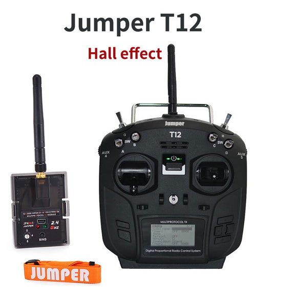 Jumper T12 Plus Multi-Protocol Radio Transmitter Remote Controller w/ JP4-in-1 RF Module Hall Effect Sensor Gimbal Black White