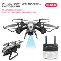 Feichao KY909 4K HD Camera Drone FPV WIFI Optical Flow Positioning RC Quadcopter Dron Foldable Altitude Hold Long Battery Life Kids Toys