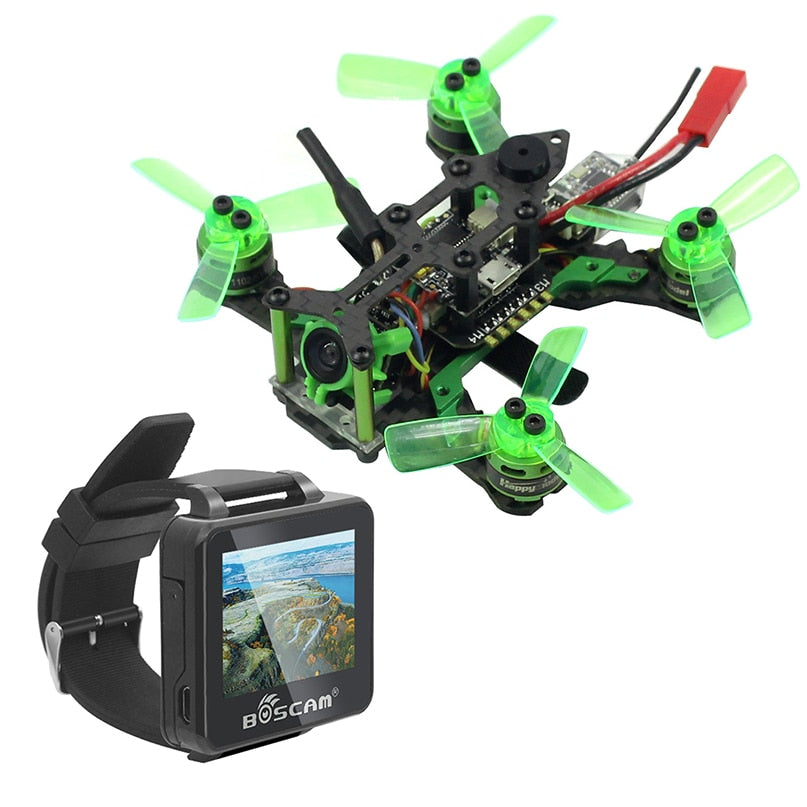 Happymodel Mantis 85 Micro FPV Racing Drone with Frsky / Flysky Receiver F4 Flight Controller with FPV Watch TFT Monitor BNF Version