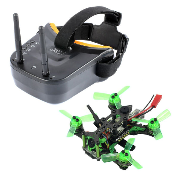 Happymodel Mantis85 85mm 5.8G FPV Micro Racer Drone Quadcopter BNF 600TVL Camera VTX & Double Antenna 3 Inch Mini Video Goggles for Flysky