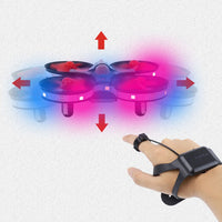 Mini UFO Drone Gesture Aircraft Induction Smart Watch Remote Sensing 3D Roll Light RC Helicopter Super Resistance Kids Toy Gift