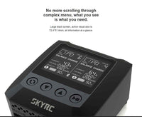 SKYRC B6 Nano Duo 2x 100W 200W 15A AC Bluetooth Smart Battery Charger Discharger Balance Charge Support SkyCharger APP