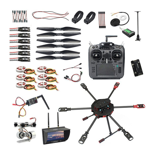 QWinOut Q705 Helicopter DIY Racing Drone Kit T18 PRO /AT9S/FS-i6/AT10 Remote Control APM /PIX Flight Control 40A ESC Aircraft RTF