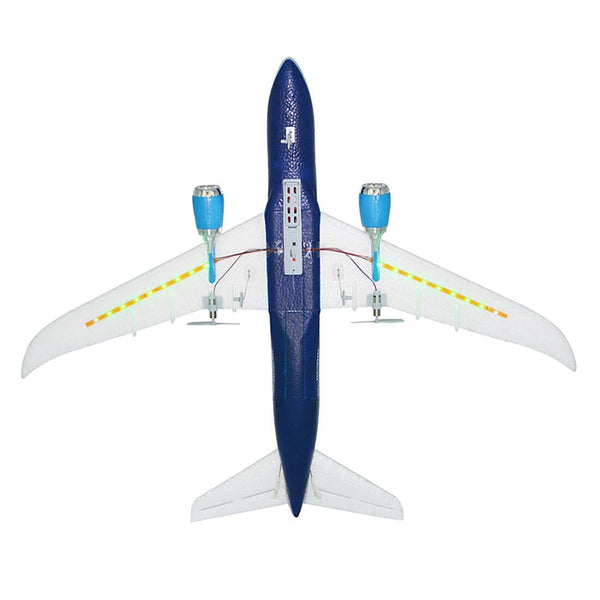 Feichao QF008 2.4G 3CH EPP Light Weight RC Plane Airplane Fixed Wing RTF DIY Self Assembly Wingspan 550mm 787 Simulation Model Kids Toys