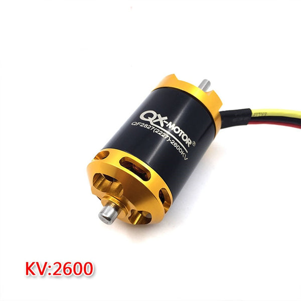 QX-MOTOR Brushless Motor 2300KV/2600KV 6 /12 Baldes Ducted Fan EDF Motor QF2827 70mm 3-4S Lipo For Jet RC Airplanes F22143