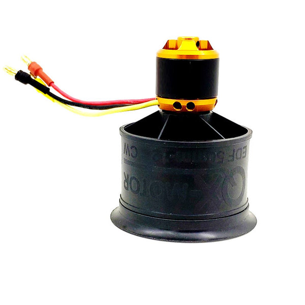QX-MOTOR QF2611 3300 4000KV 4600KV 5000KV Brushless Motor CW CCW 3-4S 50mm 12 Paddle EDF Ducted Fan for FMS RC Plane Helicopter