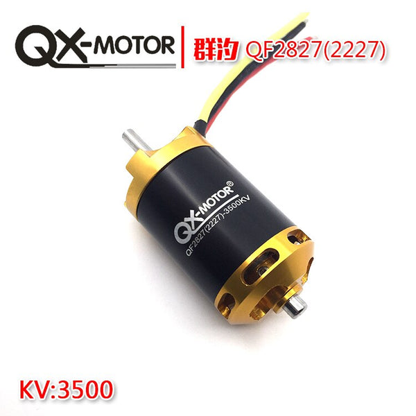 QX-MOTOR QF2827 70mm 3500KV Brushless Motor for 1500g RC Airplanes 6 paddle EDF Unit Ducted Fan QX-Motor