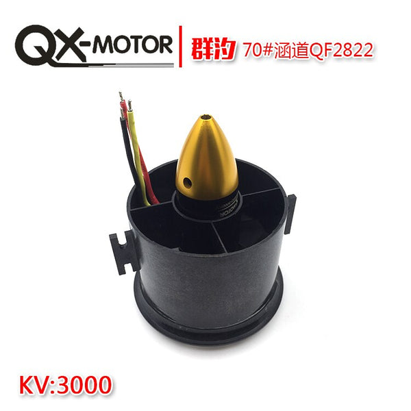 QX-MOTOR QX 70mm QF2822 3000KV Brushless Motor EDF Ducted 6-Rotor Fan Motor Balance Tested for Jet RC AirPlane
