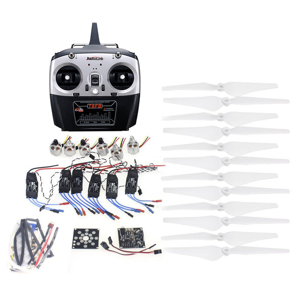 QWinOut RC HexaCopter ARF Electronic:30A ESC 920KV Motor KKMulticopter V2.3 Control Board  Propeller Radiolink T8fb 8CH  RX&RX