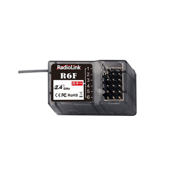 RadioLink R6F 2.4Ghz 6CH 6 Channel RC Car Receiver for RC6GS RC4GS RC3S RC4G T8FB RC Transmitter Remote Controller Car Toys