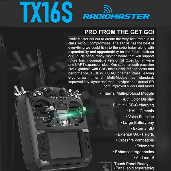 Preorder RADIOMASTER TX16S Hall Sensor Gimbals 2.4G 16CH Multi-protocol RF System OpenTX Radio Transmitter for RC Drone Helicopter Toys
