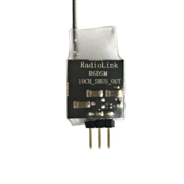 Radiolink R6DSM 2.4G 10 Channel 10CH RC Receiver DSSS & FHSS for RC Transmitter AT9 AT9S AT10 AT10II Remote Control