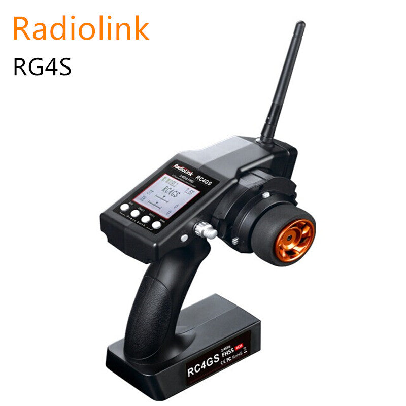 Radiolink RC4GS 2.4G 4CH Gun Remote Controller Transmitter with Gyro Integrated + R6FG Receiver for RC Car Boat 400m Distance