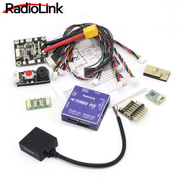 Radiolink TURBO PIX V1.0 Module PPM SBUS Flight Controller W/ Mini M8N GPS Flight Control SUI04 Ultrasonic Ranging Sensor for RC Drone Aircraft