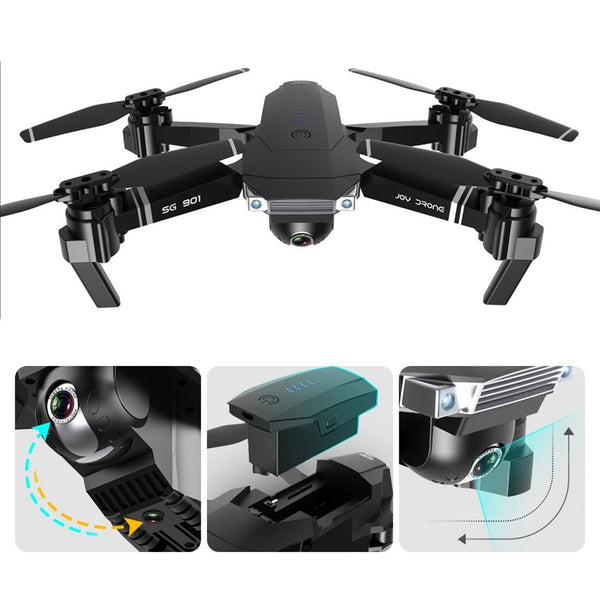 Clearance Feichao SG901 Camera Drone 4K HD Dual Camera Wide Angle GPS Follow Me Anti-shake Optical Flow WIFI FPV RC Quadcopter Foldable Dron Toys