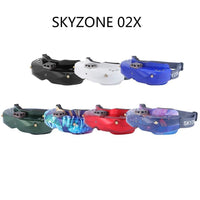 SKYZONE SKY02X 5.8Ghz 48CH Diversity FPV Goggles Support 2D/3D HDMI Head Tracking With Fan DVR Front Camera For RC Racing Drone