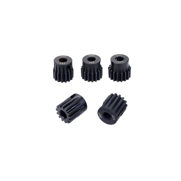 SURPASS HOBBY 5Pcs 32DP 5mm 13T 14T 15T 16T 17T 20T 21T Metal Pinion Motor Gear Set for 1/8 RC Car Truck Brushed Brushless Motor