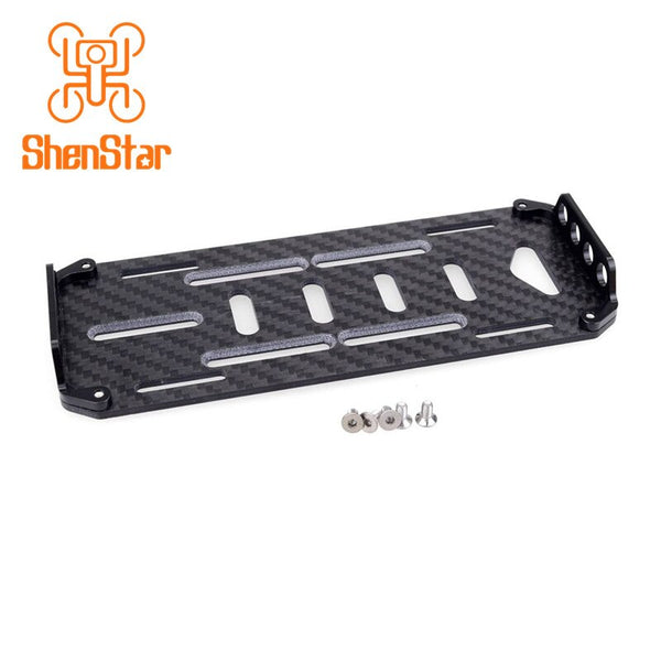 ShenStar Carbon Fiber RC Car Battery Mount Plate Tray w/ Battery Strap for SCX-10 SCX10 1/10 RC Crawler Car Truck Spare Parts
