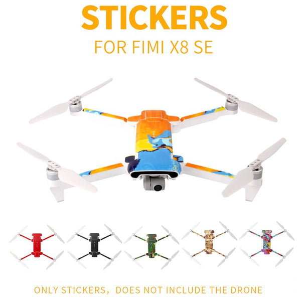 Sunnylife PVC Waterproof Sticker for Fimi X8 SE Drone Body Shell Protection Skin Quadcopter Camera Drone Accessories Decals
