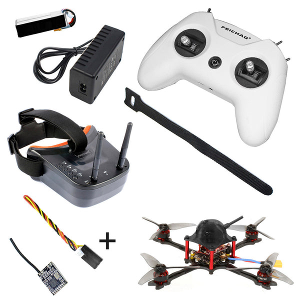 FEICHAO T143 FPV Quadcopter 143mm FPV Racing Drone 5000kv Motor Carbon Fiber 1200TVL Camera